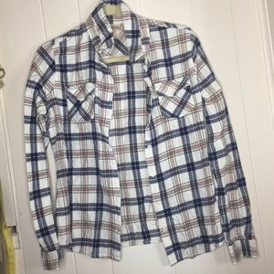 Mossimo plaid flannel shirt size Large